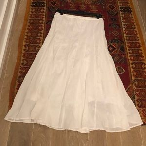Soft Surroundings Long Gauze lined Skirt M EUC